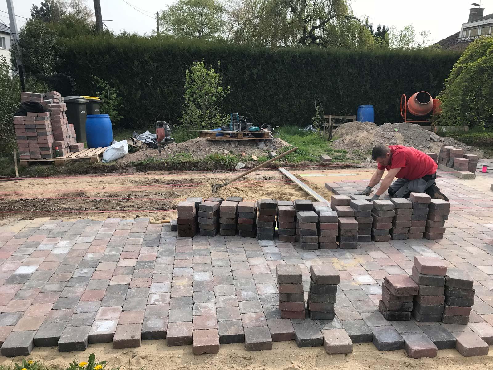 pavage blocs beton